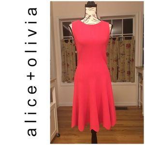 Alice + Olivia Dress Pink/Coral Sweater Dress